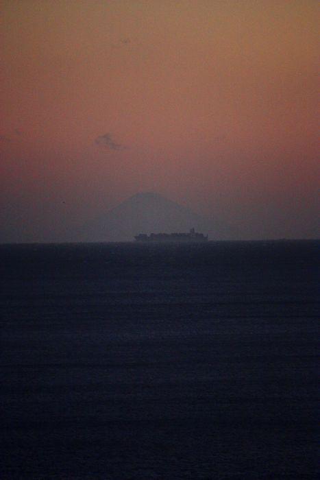 鳥羽市相差・千鳥ヶ浜から見る富士山