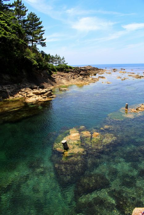 間人・城島の美しい海